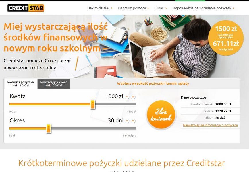 Creditstar logowanie